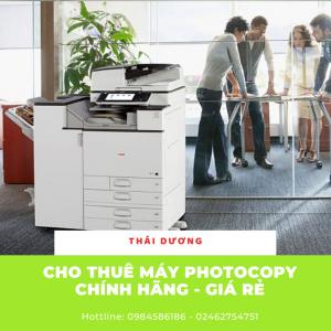 Dịch vụ cho thuê máy photocopy tại Hải Dương