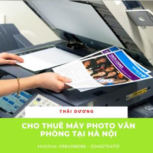 Cho thuê máy photocopy văn phòng giá rẻ tại Hà Nội